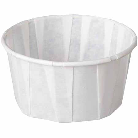 GenPack White 4oz Pleated Portion Cup F400
