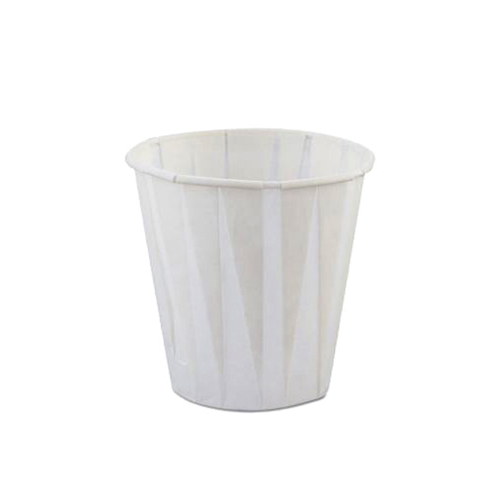 GenPack White 3.5oz Pleated Portion Cup W450F