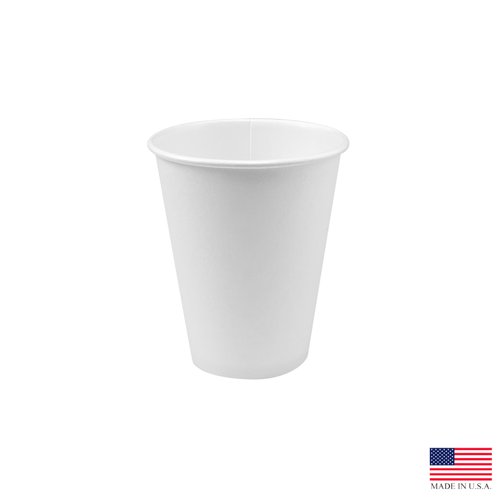 Solo White 8oz Single Poly Paper Hot Cup 378W-2050