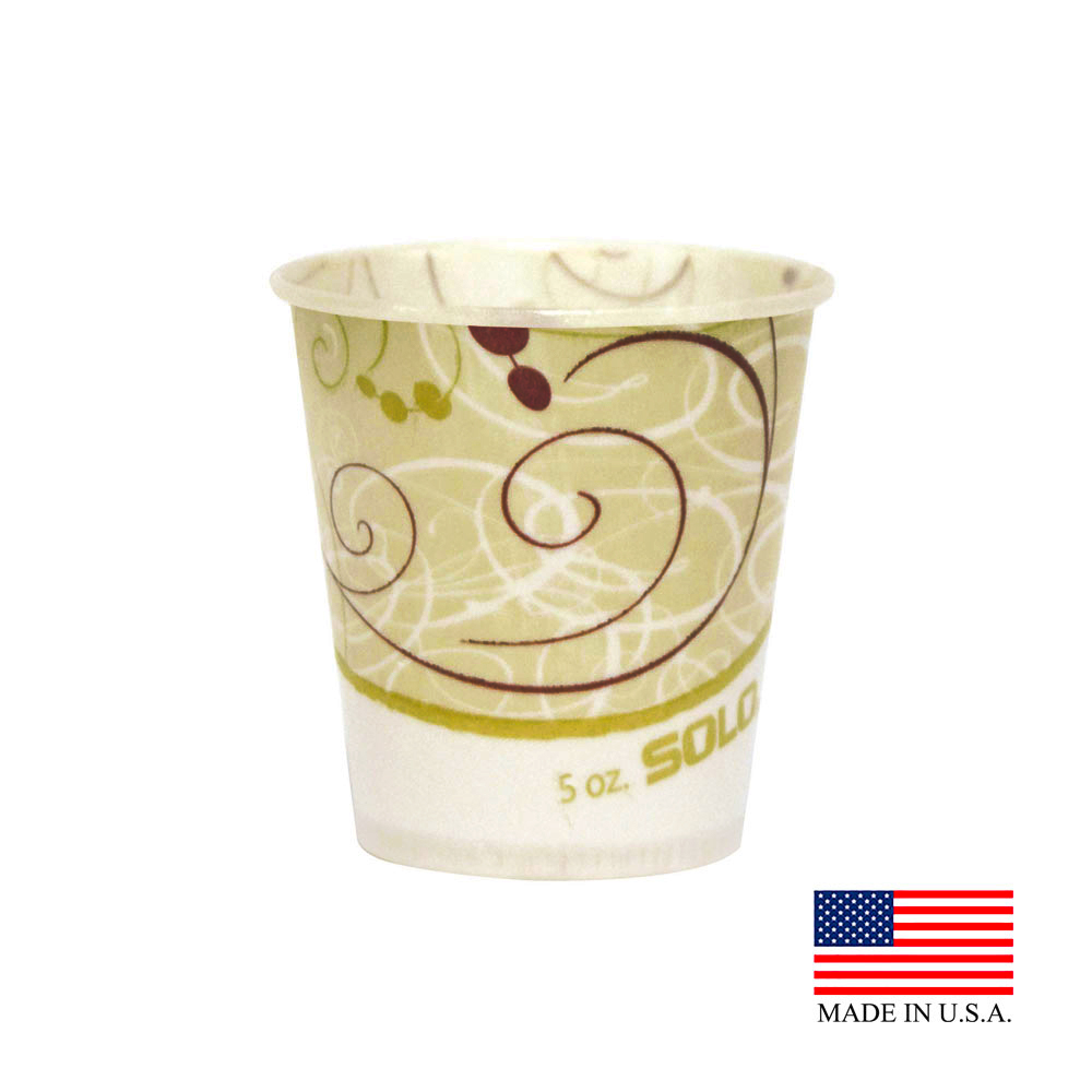 Solo Symphony 5oz Waxed Paper Water Cup R53-J8000