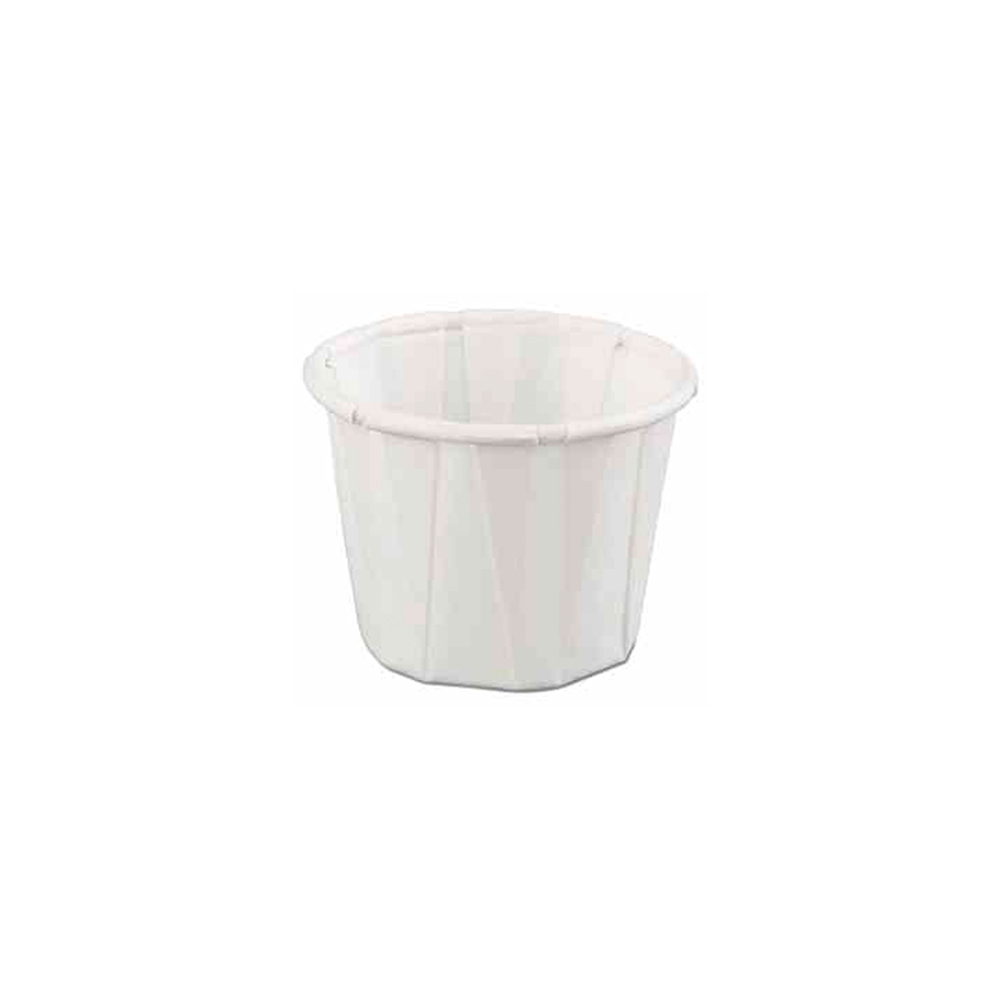 GenPack White 1oz Pleated Paper Portion Cup F100