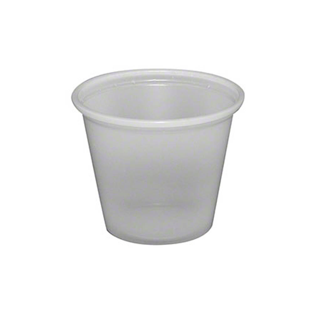 Fabrikal Translucent 1oz Plastic Souffle Portion Cup PC100/9505192