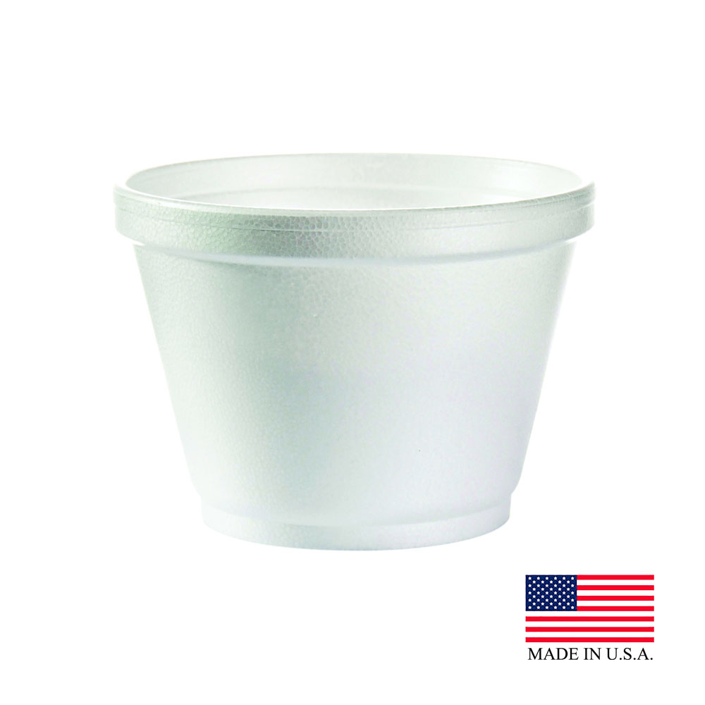 Dart White 6oz Foam Container 6SJ12