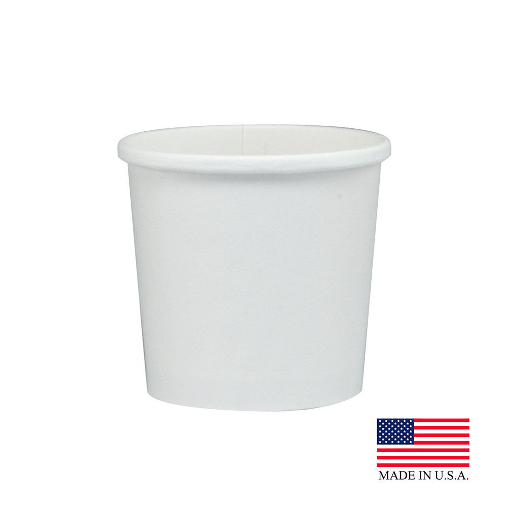 Solo White 12oz Double Poly Paper Food Container H4125-2050