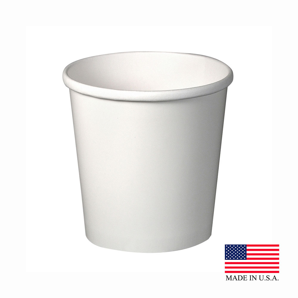 Solo White 16oz Double Poly Paper Food Container H4165-2050