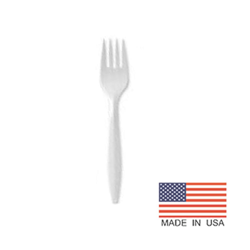 D&W Fine Pack White Medium Weight Elite Polypro   Fork EFW