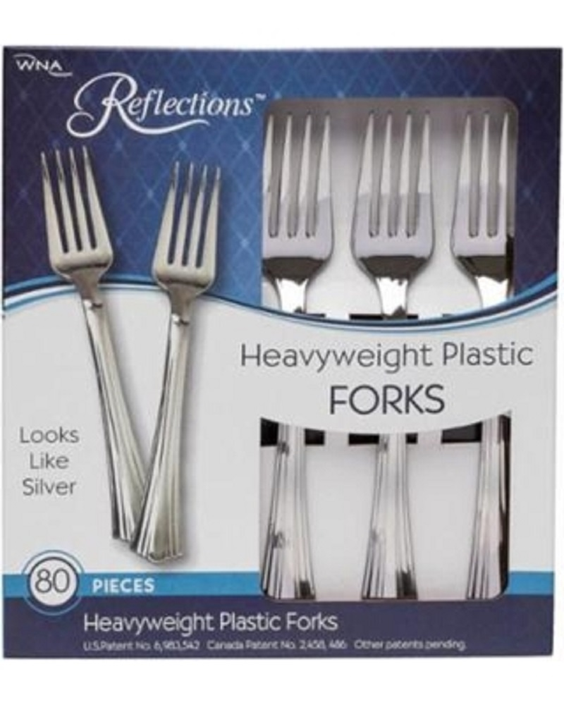 Comet Silver Heavy Weight Reflections Plastic Fork 61080