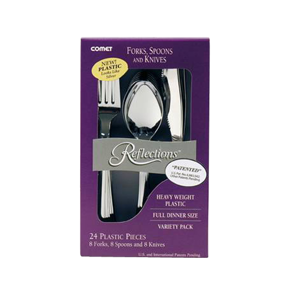 Comet Silver Heavy Weight Reflections Fork, Knife, and Teaspoon 612324