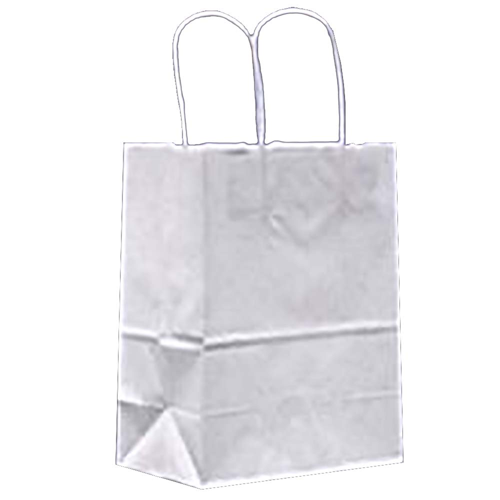 "Duro Bag White 9""x5.75""x13.5"" Trim Kary Shopping Bag 84625"