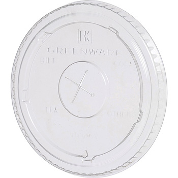 Fabrikal Clear 12oz/20oz Green Ware X Slot Lid With Flavor Buttons LGC12/20/9509111
