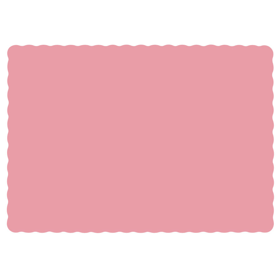 "Hoffmaster Dusty Rose 10""x14"" Placemat 310525"
