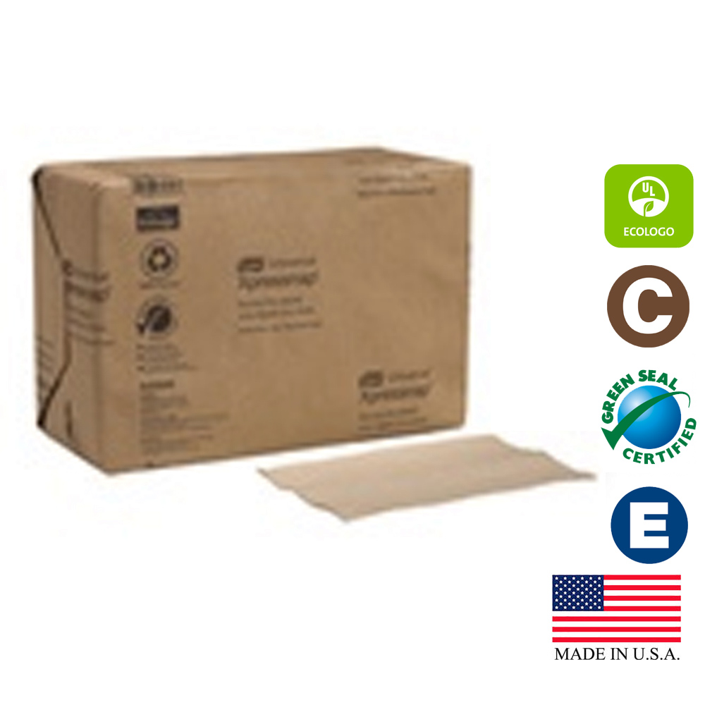 "SCA Natural 13""x8.5"" 1ply Tork Universal Interfold Xpress Dispenser Napkin DX906E"