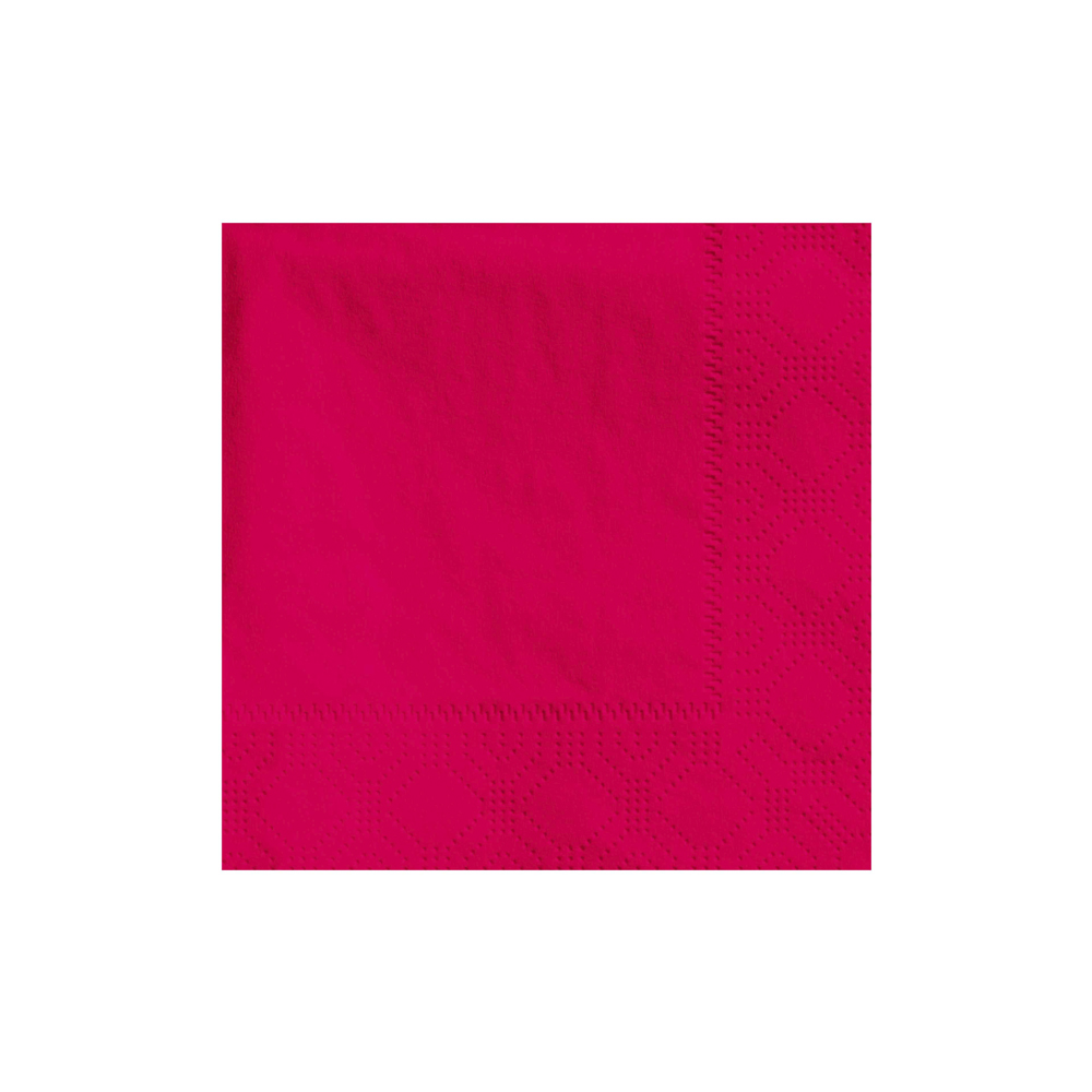 "Hoffmaster Red 9.5""x9.5"" 1/4 Fold 2ply Beverage Napkin 180311"