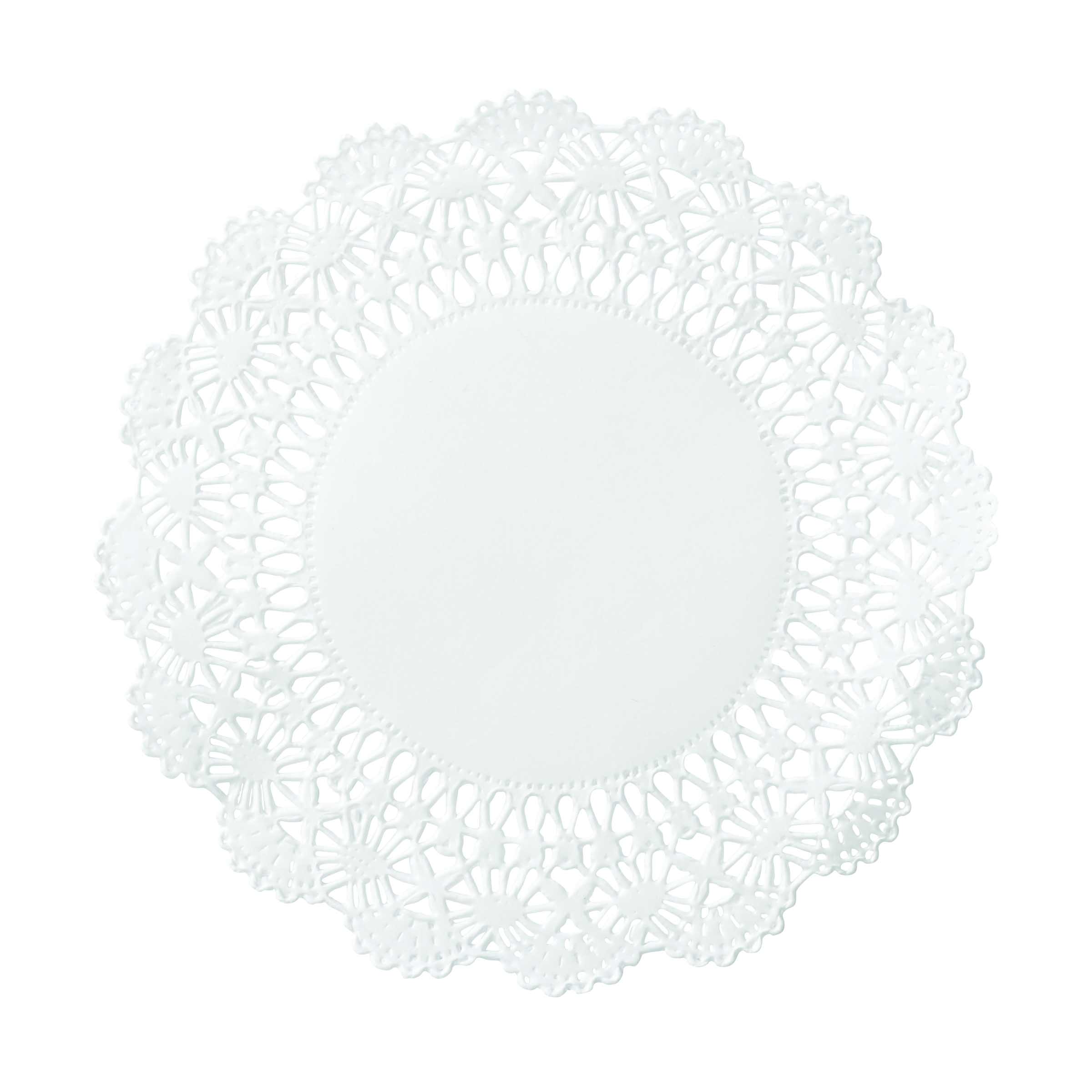 "Hoffmaster White 5"" Cambridge Lace N Linen Doilies 500234"