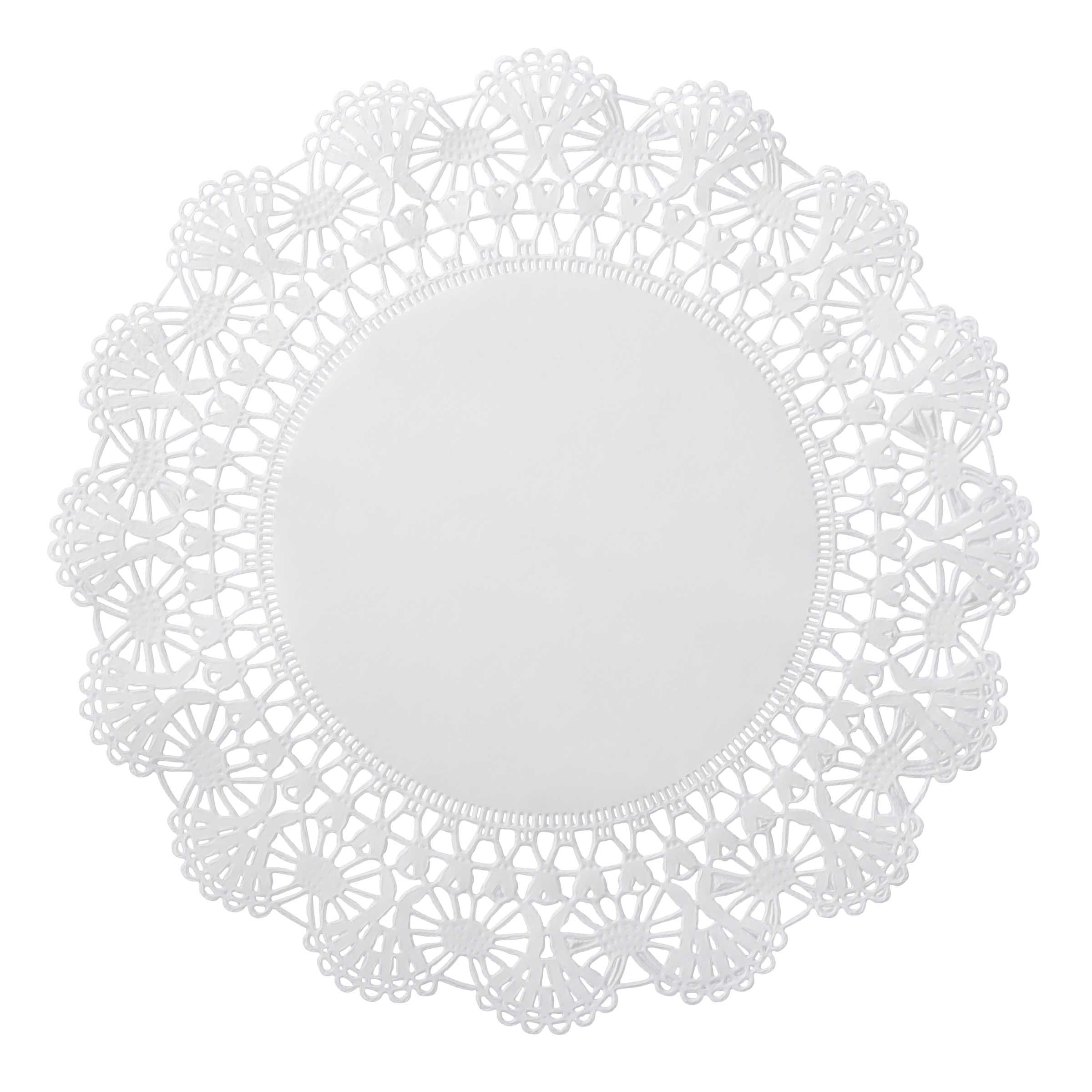 "Hoffmaster White 12"" Cambridge Lace N Linen Doilies 500239"