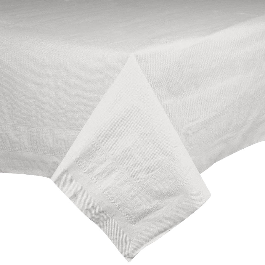 "Hoffmaster White 54""x54"" 2ply Cellutex Tissue Table Cover 210046"