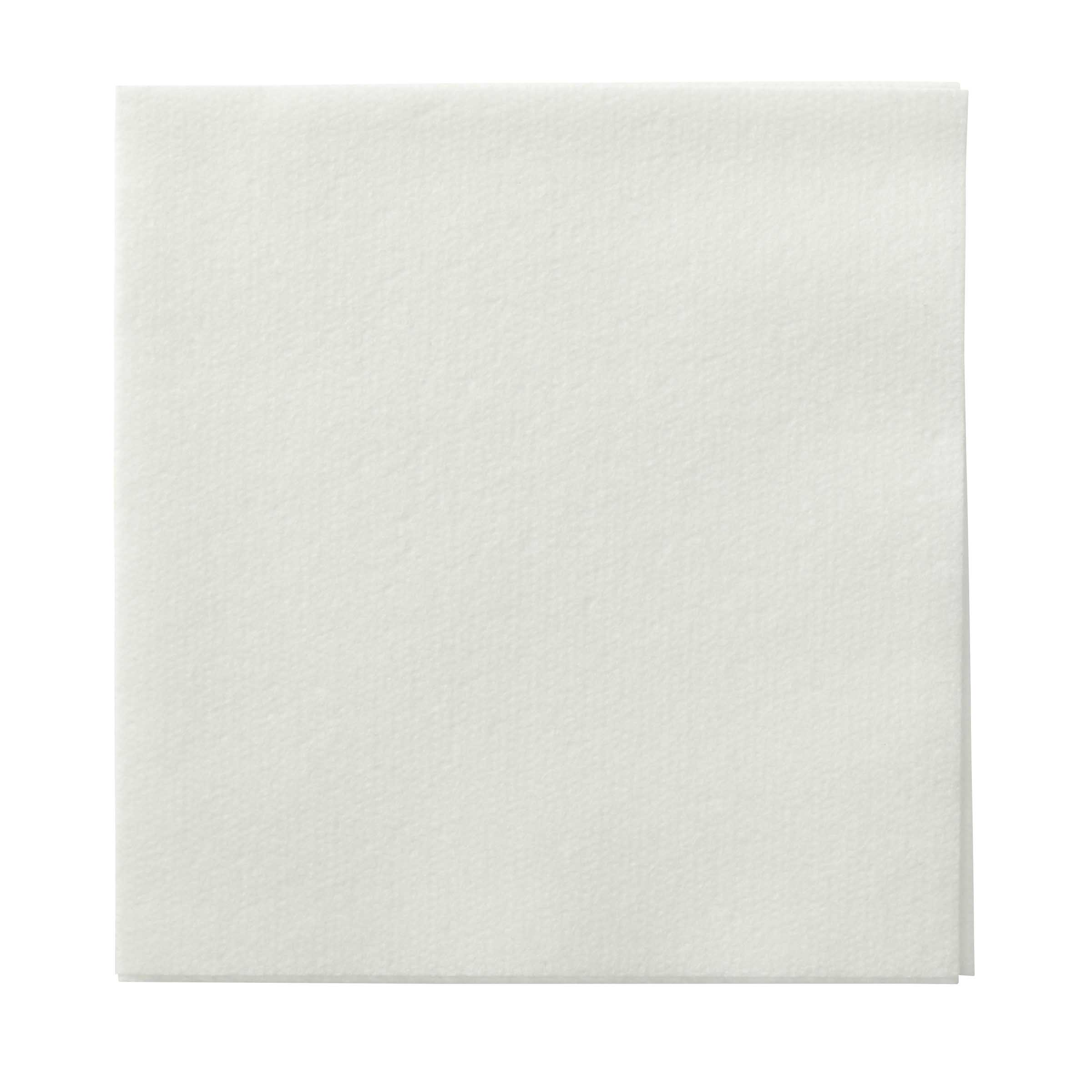 "Hoffmaster White 10""x10"" 1/4 Fold Un Embossed Linen Like Beverage Napkin 046115"