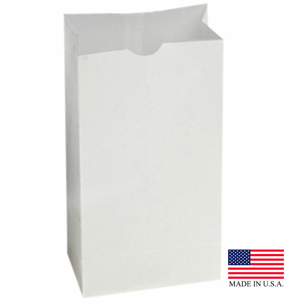 "Bagcraft White 5""x3 1/8""x9 11/16"" 4lb SOS Double Waxed Bakery Bag 300924"