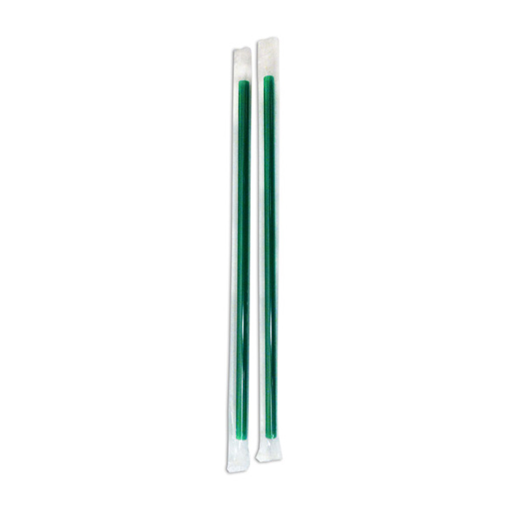 "D&W Fine Pack Green 9"" Wrapped Giant Straw PV549NF"