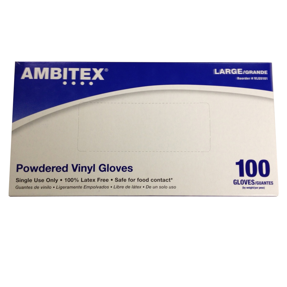 Tradex Intl Extra Large Disposable Multi Purpose Powder Free Vinyl Glove VXL4201