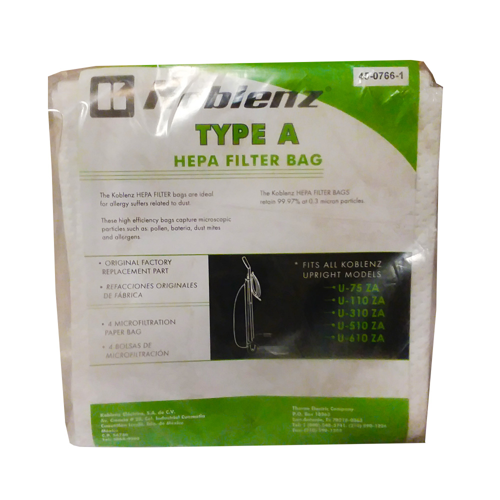 Thorne Electric Type A Hepa Filter 4507661