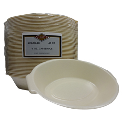 Convenience Packs Beige 6oz Foam Casserole Dish CASS-48