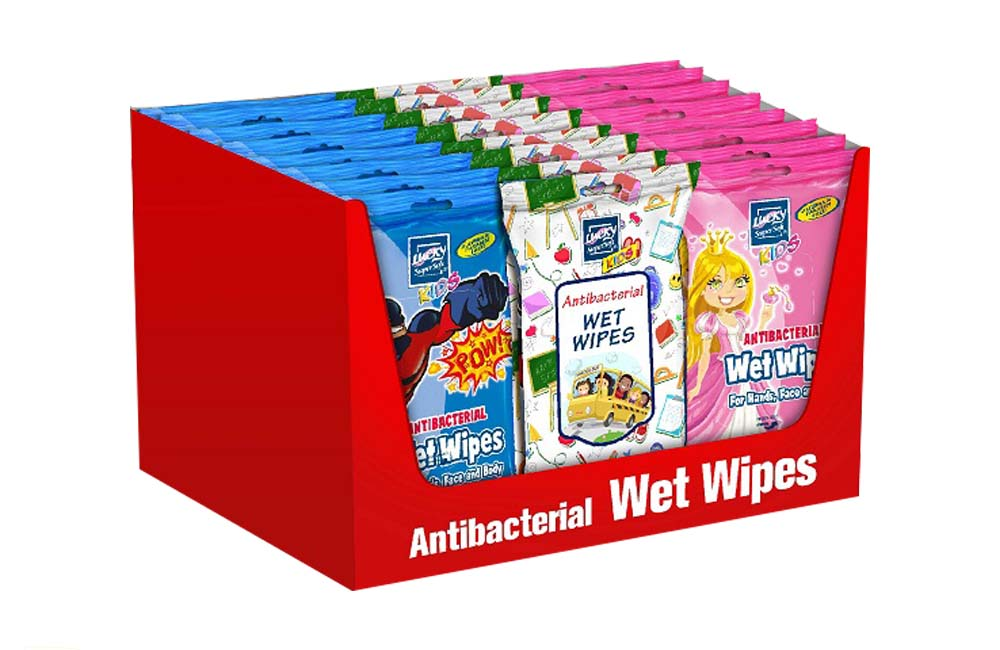 Delta Brands Lucky Super Soft Anti Bacterial Wet Wipe Variety Pack 11112-24