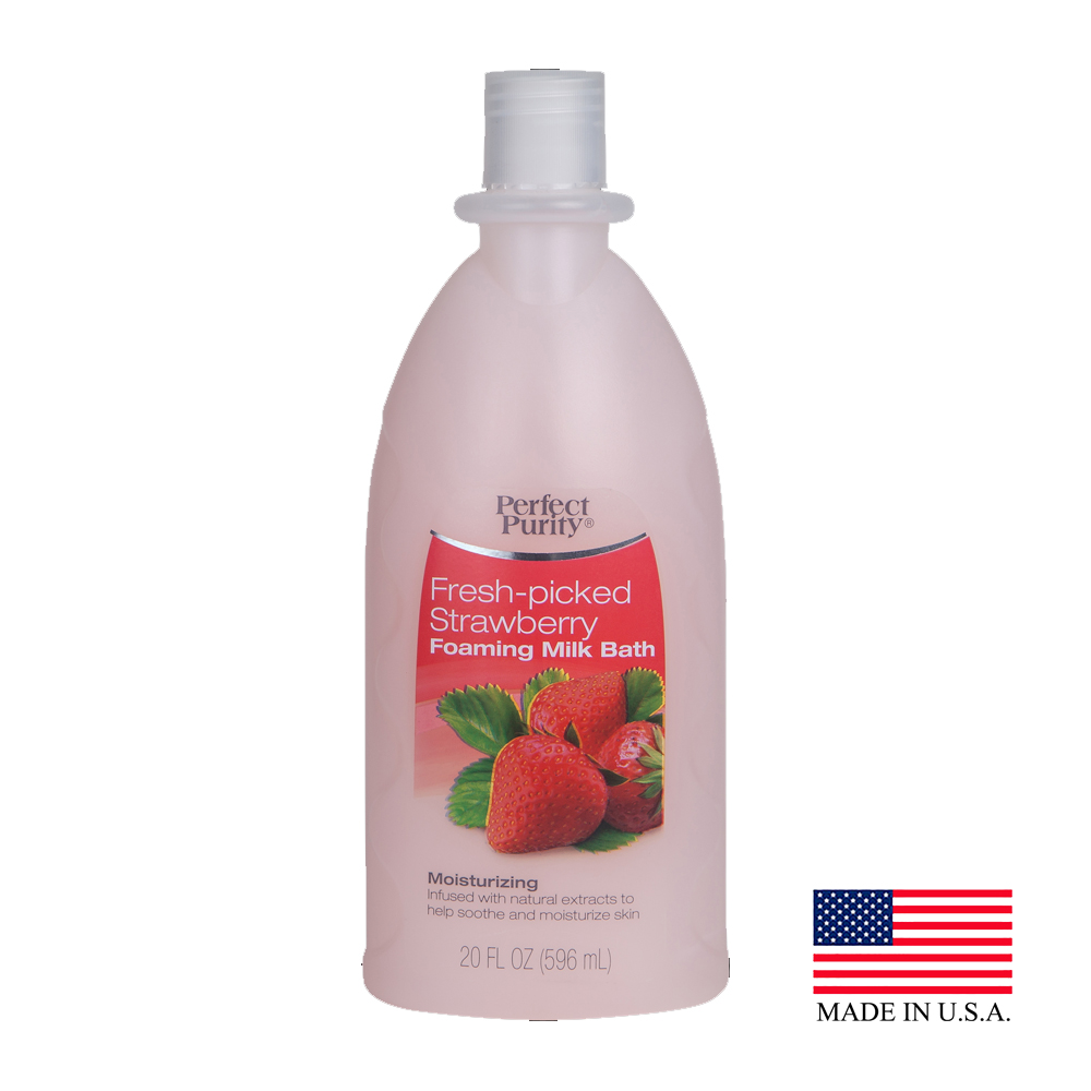Davion Pink 20oz Perfect Purity Strawberry Foaming Bubble Bath 55120 - 55120 20OZ BBATH STRWB FOAMING