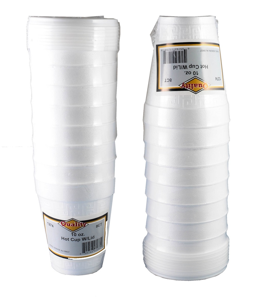 Convenience Packs White 10oz Foam Cup With Lid RMS1274