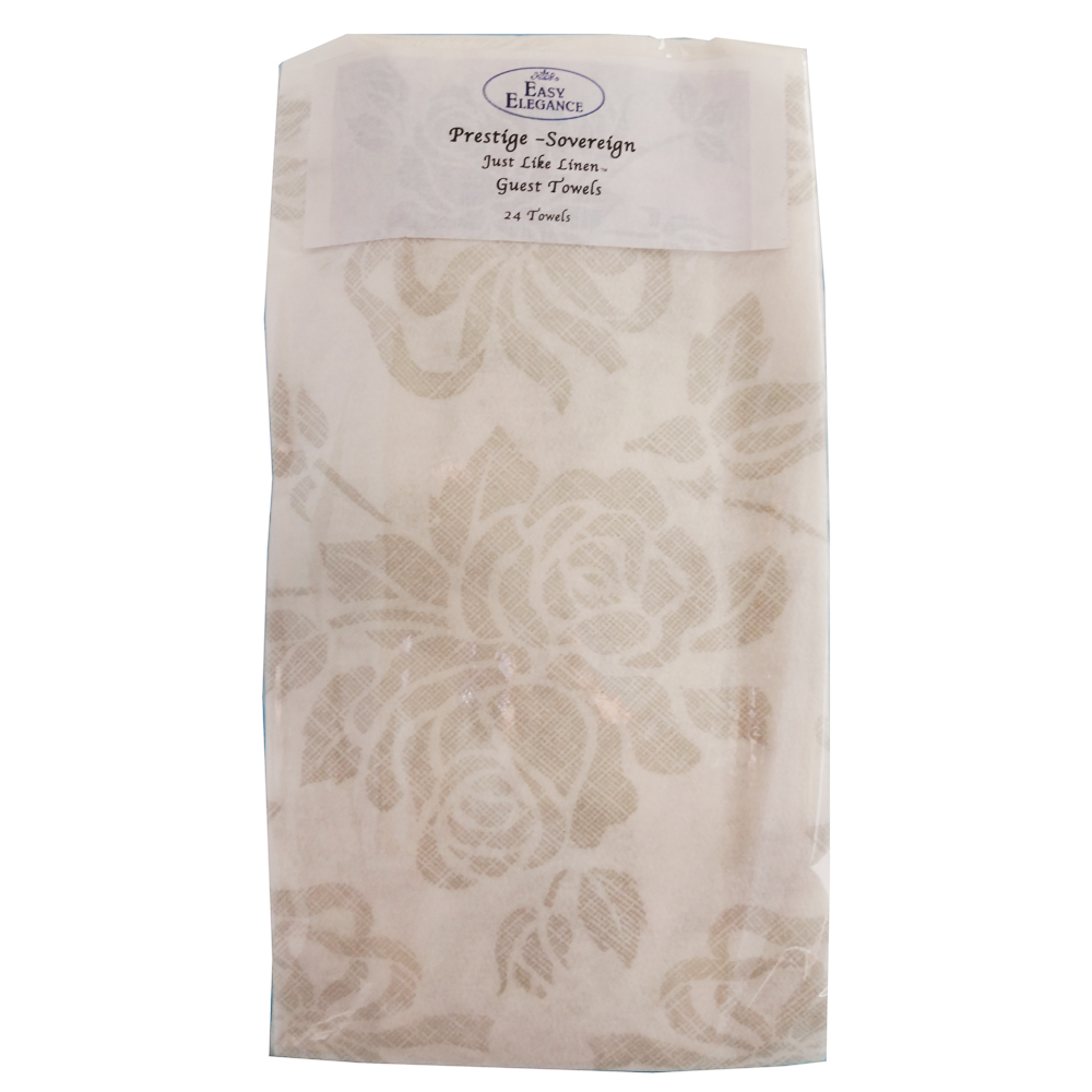 "Convenience Packs White 12""x17"" 1/6 Fold Prestige Just Like Linen Guest Towel PRSTG GUEST TWL"