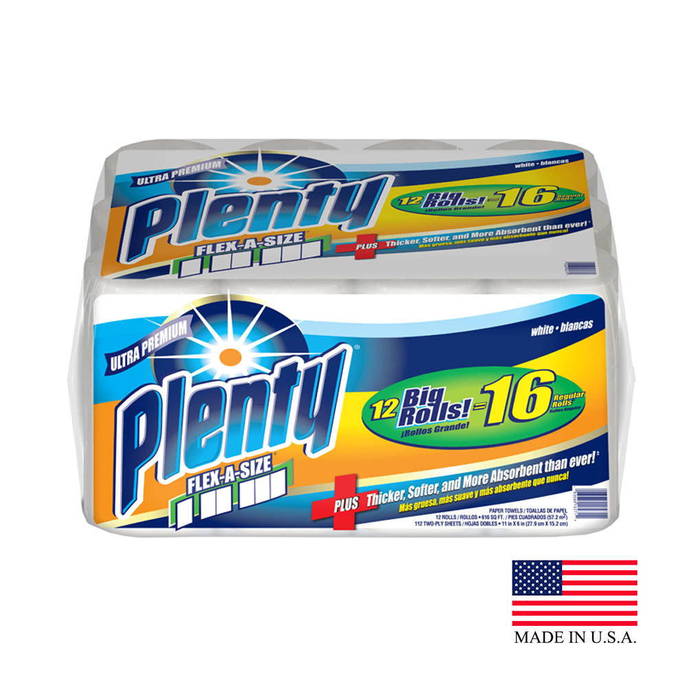 Plenty White Flex A Size Kitchen Roll Towel 2924382