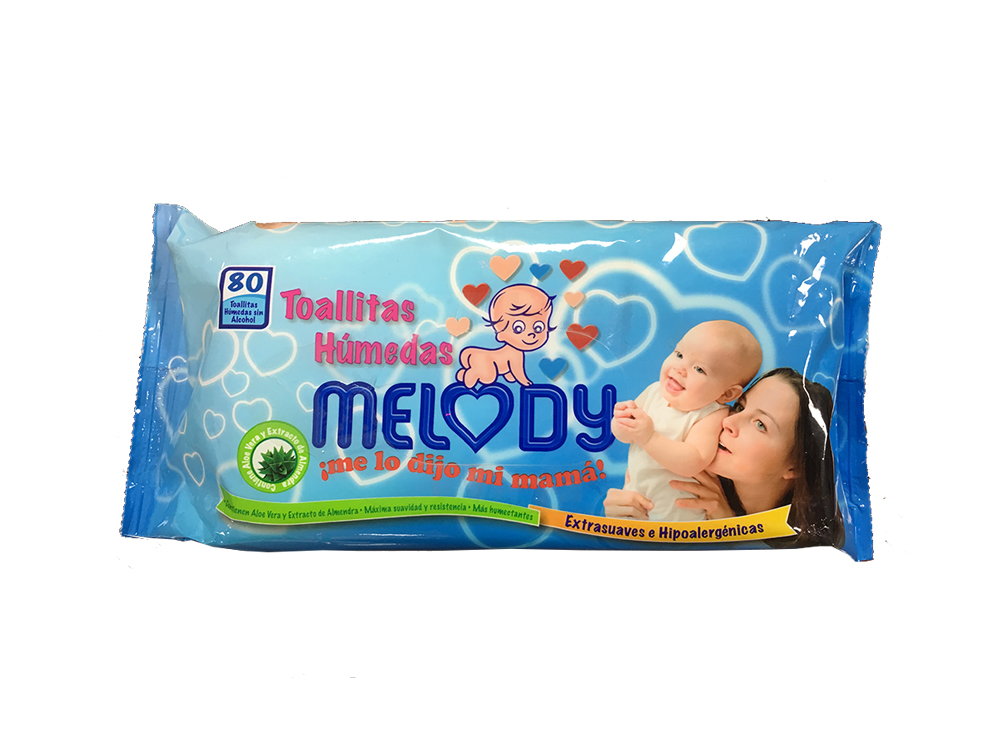 Progressive Products Melody Blue Baby Wipes Refill 50031