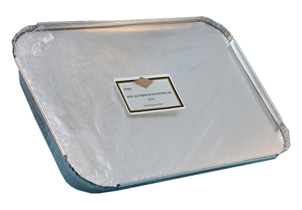 Convenience Packs Aluminum 4lb Oblong Pan With Board Lid Combo 7021/48CB