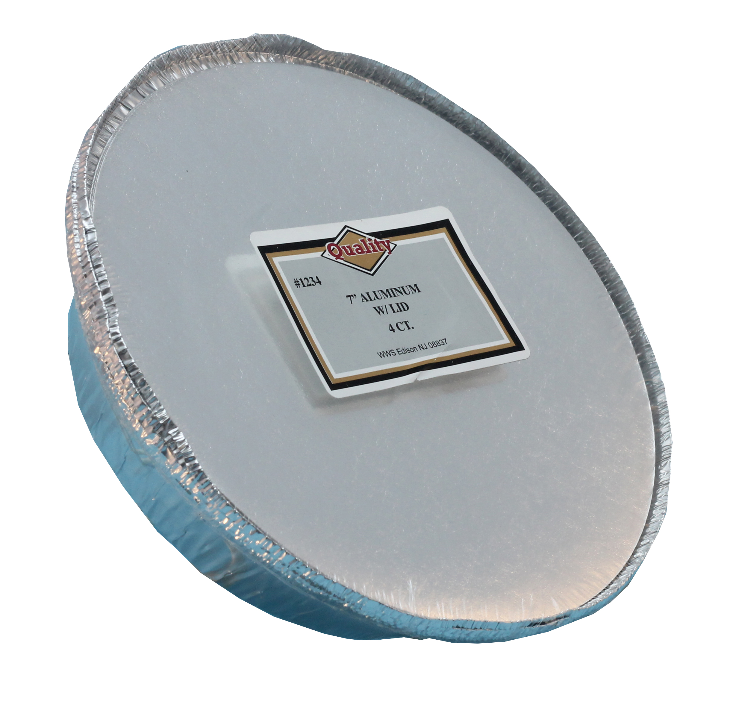 "Convenience Packs Aluminum 7"" Round Pan With Board Lid 1234/72CB"