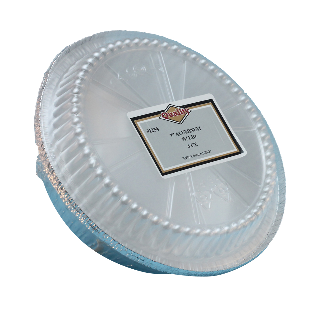 "Convenience Packs Aluminum 7"" Round Pan With Dome Lid 1234/72PL"