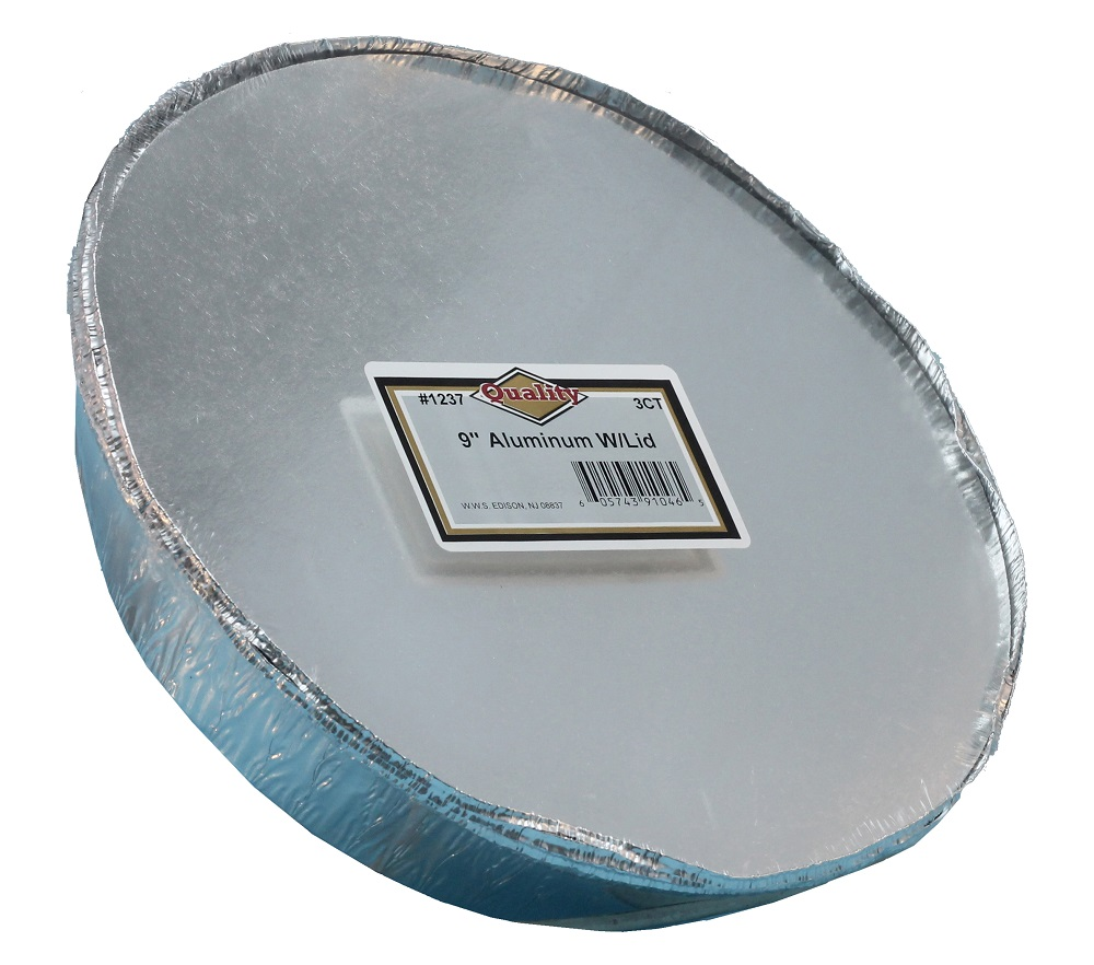 "Convenience Packs Aluminum 9"" Round Pan With Board Lid 1237/72CB"