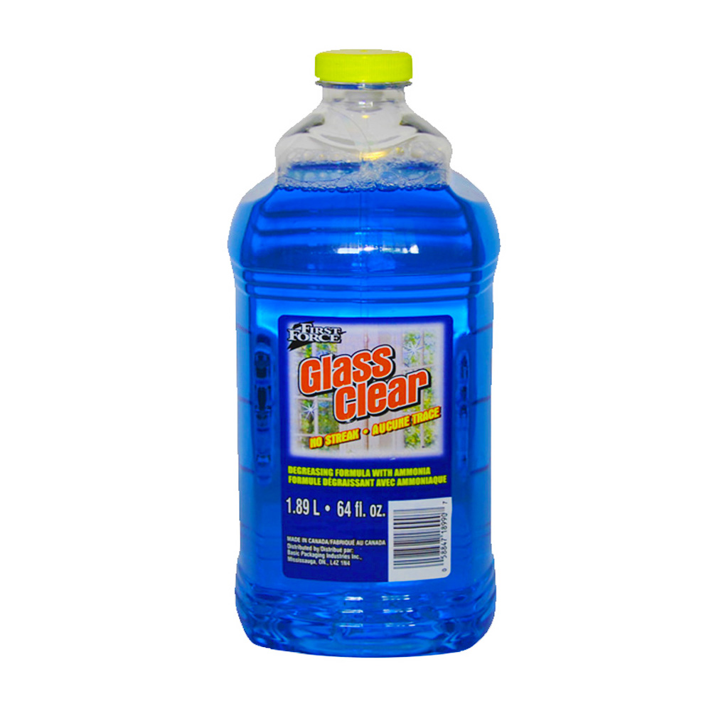 Basic Packaging Blue 64oz First Force Glass Cleaner 18990-7