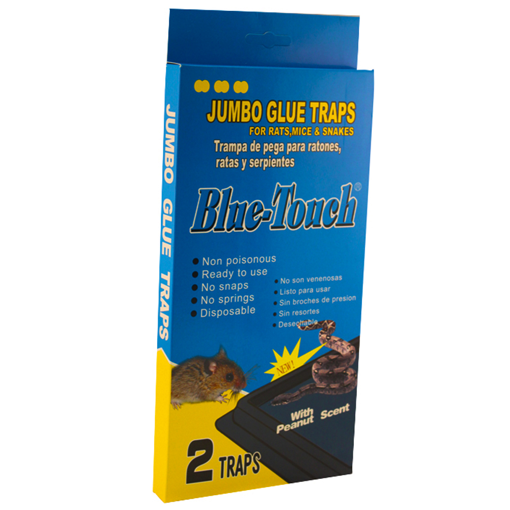 Blue Touch Inc 2 Pack Jumbo Glue Mouse Trap 32203