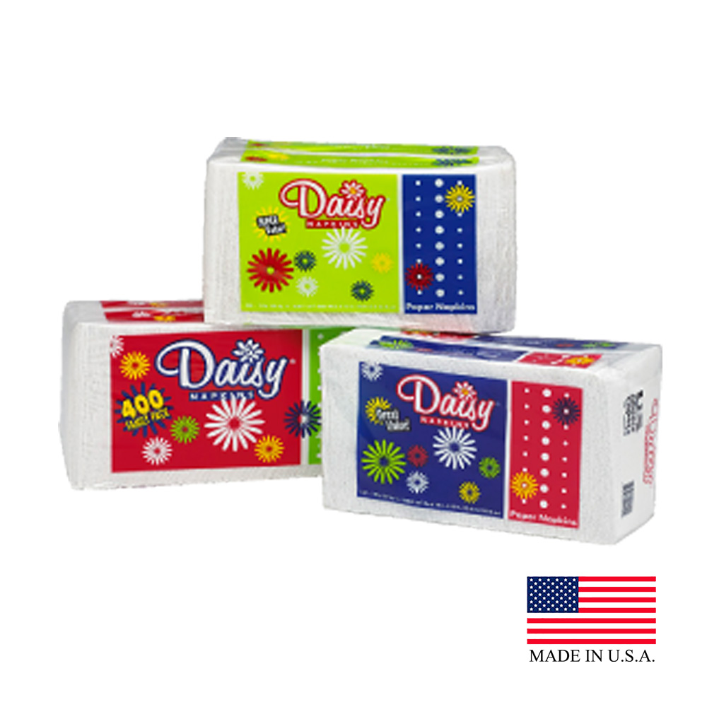 US Alliance White 1ply 250 Count Daisy Lunch Napkin 20250