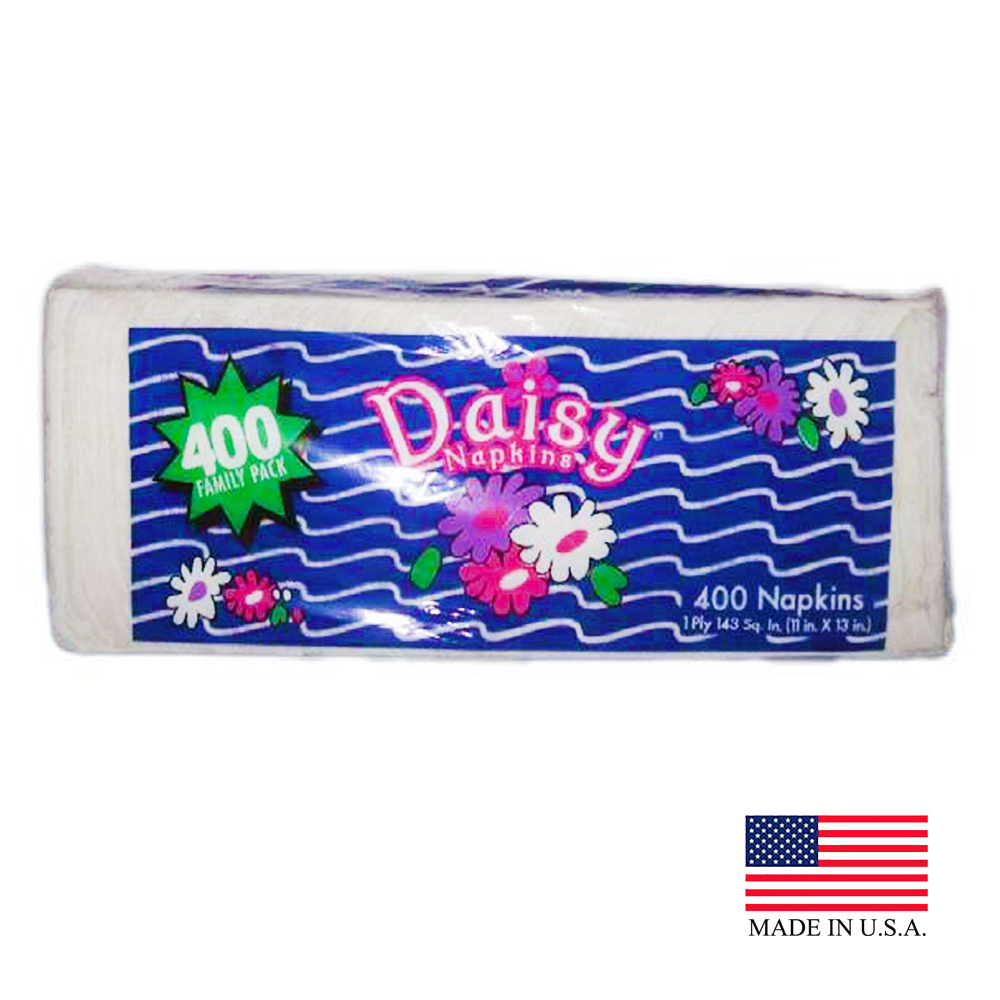 US Alliance White 1ply 400 Count Daisy Lunch Napkin 20400
