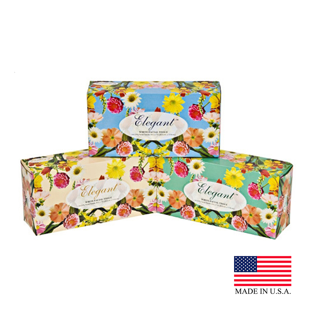 Elegant 2ply 144 Count Flat Box Facial Tissue 826-144