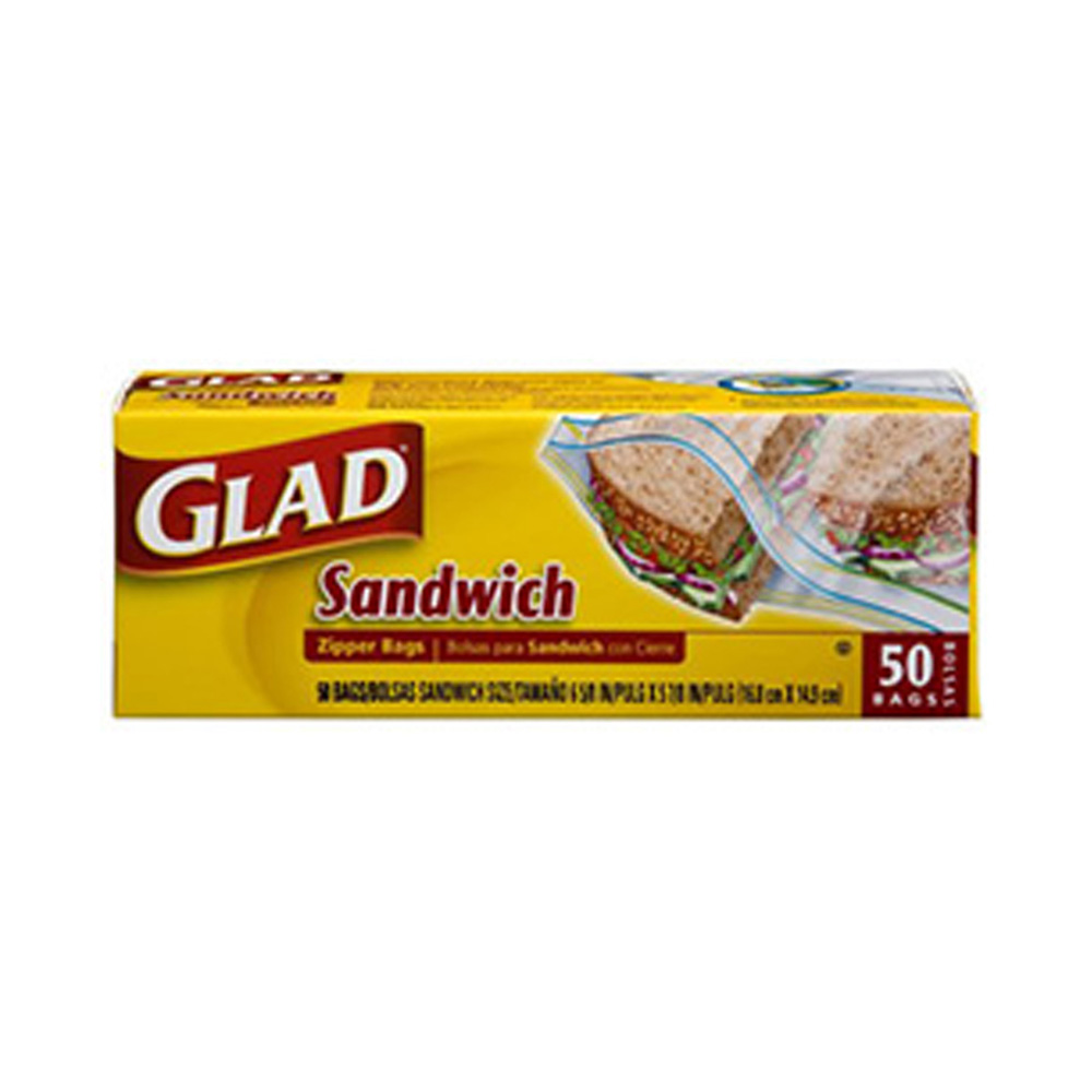 The Clorox Sales Company Clear Zipper Glad        Sandwich Bag 57263