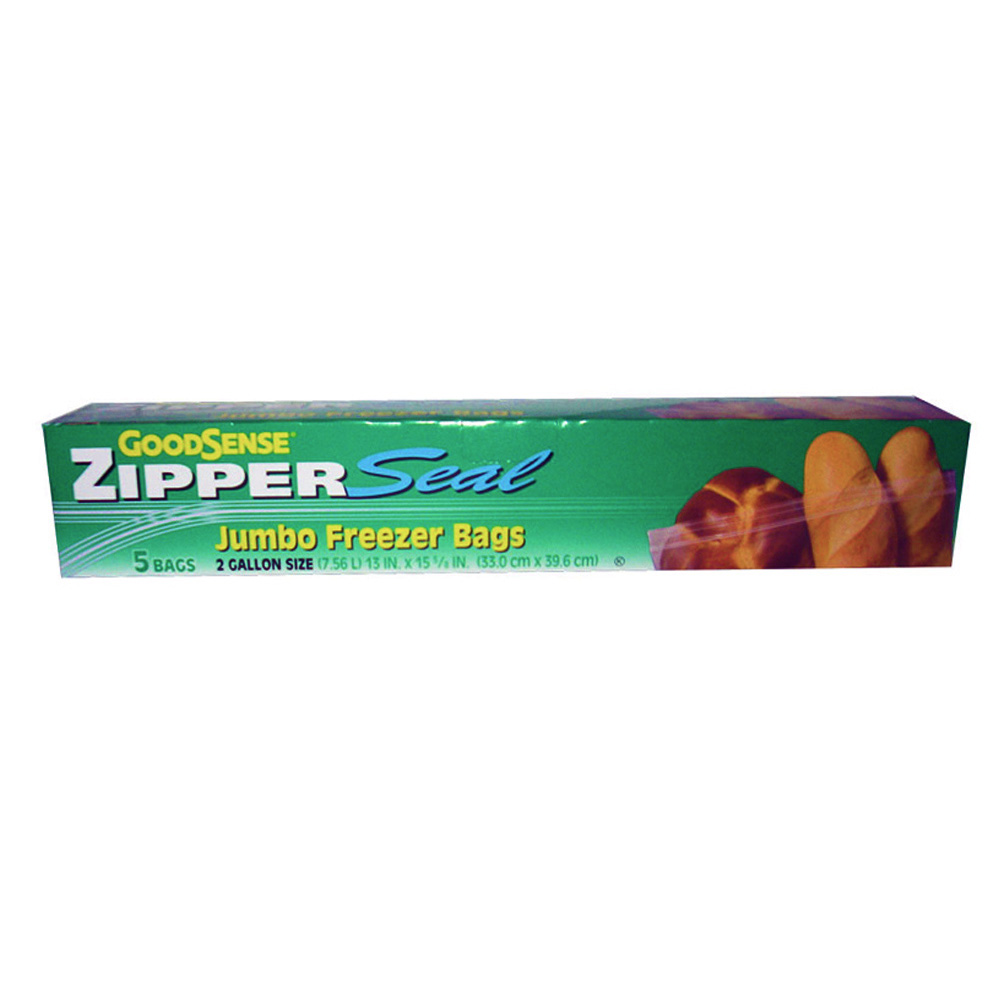 Webster Ind Clear 2 Gallon Good Sense Jumbo Zipper Seal Freezer Bag GDS30JGF5