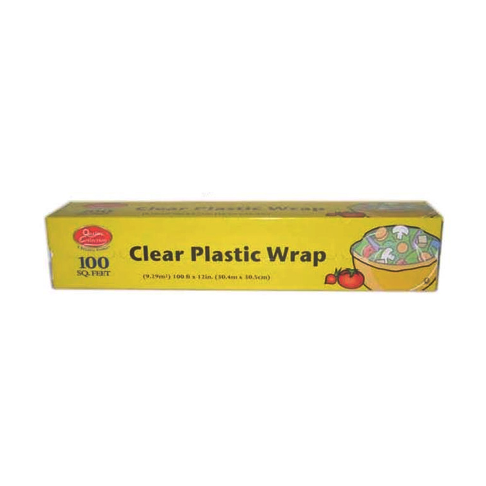 Quality Collection Clear 100sq Ft Plastic Wrap F36/100