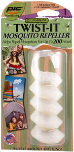 Pic Corp White 200 Hour Twist-It Mosquito Repeller TWIST-IT