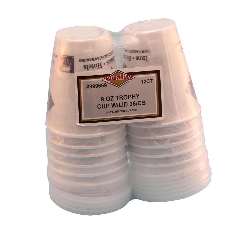 Convenience Packs White 9oz Foam Cup With Lid 899669