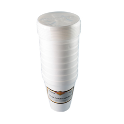 Convenience Packs White 12oz Foam Cup With Lid RMS1271A