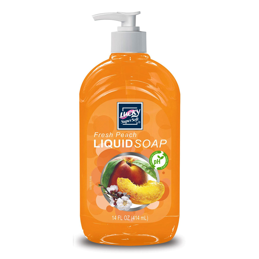 Delta Brands 14oz Lucky Super Soft Fresh Peach Liquid Soap 3203-12