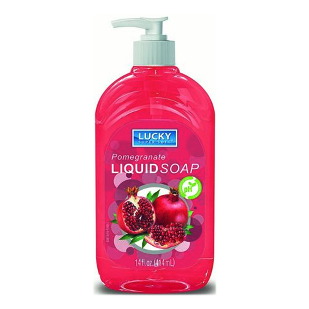 Delta Brands 14oz Lucky Super Soft Pomegranate Liquid Soap 3215-12