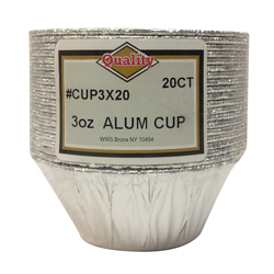 Convenience Packs Aluminum 3oz 20 Pack Utility Cup CUP3X20